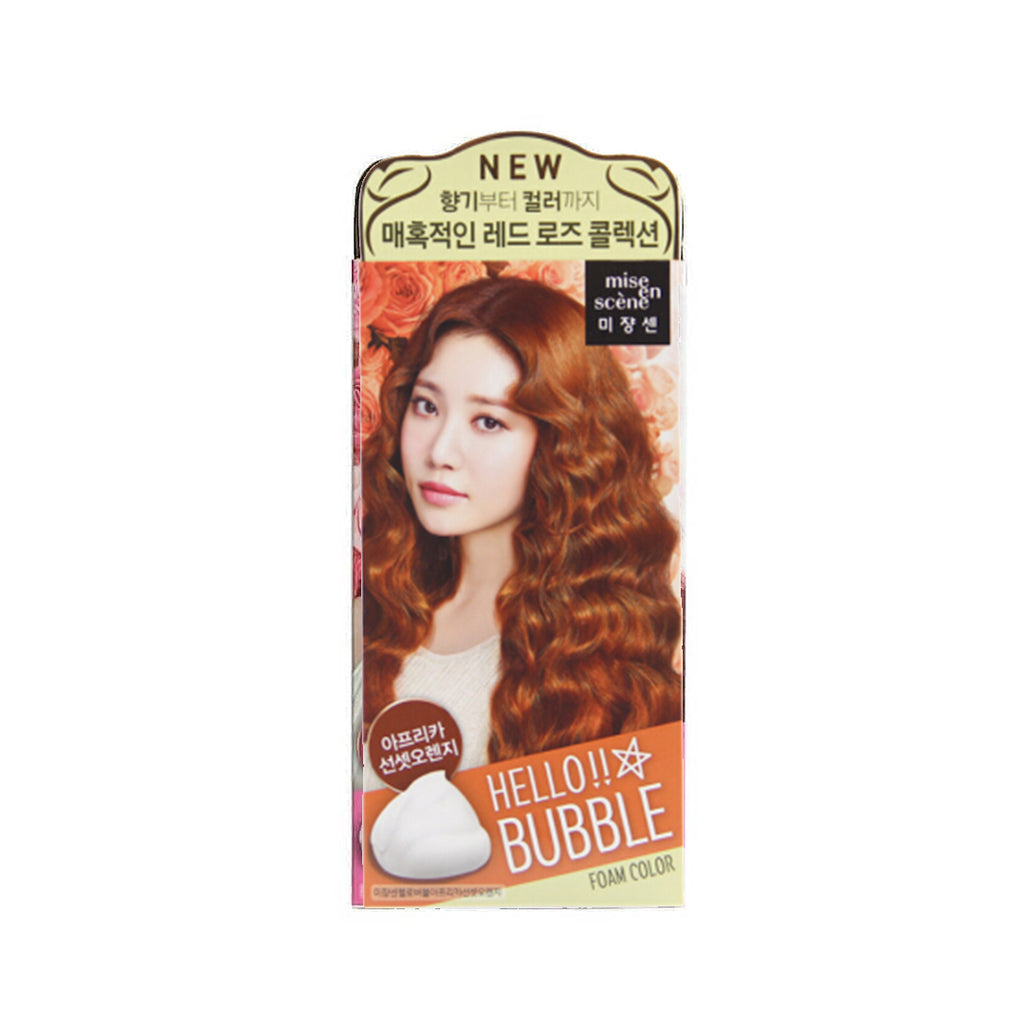 Mise en Scene Hello Bubble Foam Hair Color 8S African Sunset Orange