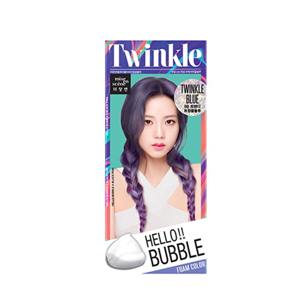 Mise en Scene Hello Bubble Foam Hair Color 9B Twinkle Blue