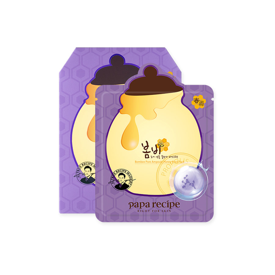 Papa Recipe Bombee Pore Ampoule Honey Mask Pack 10 Sheets (1 Box)