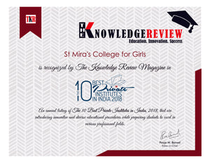 Sadhu Vaswani Mission's St. Mira's College for Girls in Top 10 of the country!