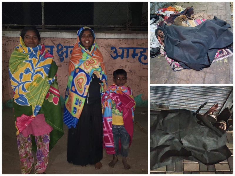 Blanket seva in Wintry Nights