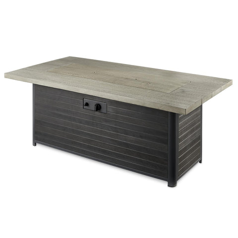 Image of The Outdoor GreatRoom Company 61-Inch Linear Propane Gas Fire Pit Table - Grey Cedar - CR-1242-K - Fire Pit Table - The Outdoor GreatRoom Company - ElectricFireplacesPlus.com
