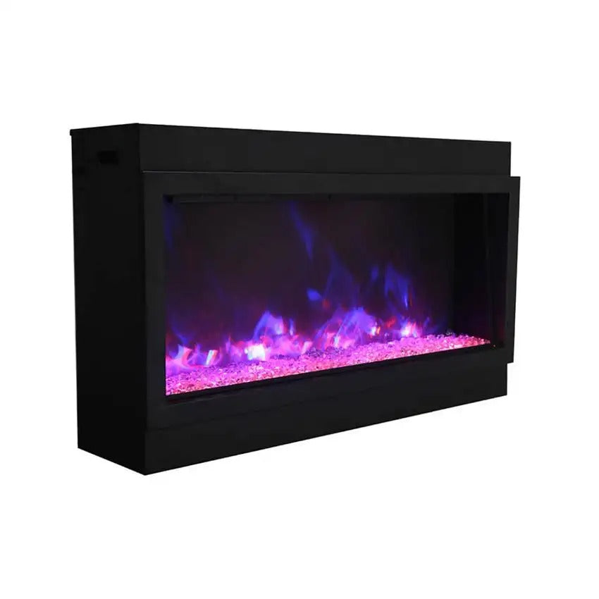 "Amantii Panorama 60"" Electric Fireplace – Deep - XT  Indoor / Outdoor"