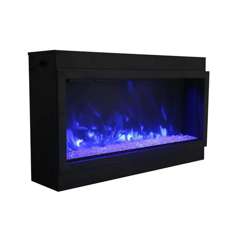 "Image of Amantii Panorama 60"" Electric Fireplace – Deep - XT  Indoor / Outdoor"