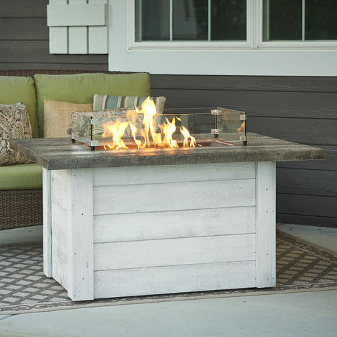 The Outdoor GreatRoom Company Alcott 48-Inch Rectangular Propane Gas Fire Pit Table - Antique Timber - ALC-1224 - Fire Pit Table - The Outdoor GreatRoom Company - ElectricFireplacesPlus.com