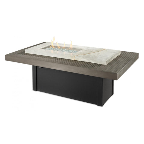 Image of The Outdoor GreatRoom Company Boardwalk 72-Inch Linear Natural Gas Fire Pit Table - BOARDWALK-NG - Fire Pit Table - The Outdoor GreatRoom Company - ElectricFireplacesPlus.com