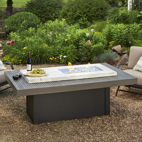 Image of The Outdoor GreatRoom Company Boardwalk 72-Inch Linear Propane Gas Fire Pit Table - BOARDWALK - Fire Pit Table - The Outdoor GreatRoom Company - ElectricFireplacesPlus.com