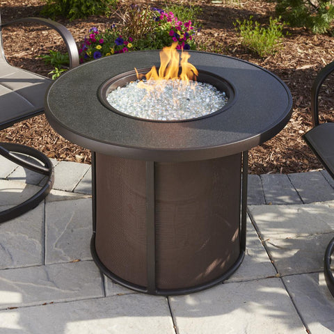 The Outdoor GreatRoom Company Stonefire 31-Inch Round Natural Gas Fire Pit Table - Brown - SF-32-K-NG - Fire Pit Table - The Outdoor GreatRoom Company - ElectricFireplacesPlus.com
