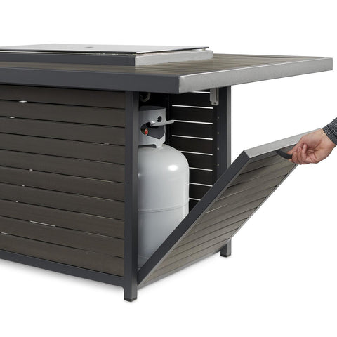 Image of The Outdoor GreatRoom Company Brooks 50-Inch Rectangular Natrual Gas Fire Pit Table - Grey - BRK-1224-K-NG - Fire Pit Table - The Outdoor GreatRoom Company - ElectricFireplacesPlus.com