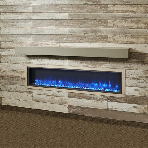The Outdoor GreatRoom Company 60-Inch Mantel Shelf - Cove Grey - GCVMT-60 - Fire Pit Table - The Outdoor GreatRoom Company - ElectricFireplacesPlus.com