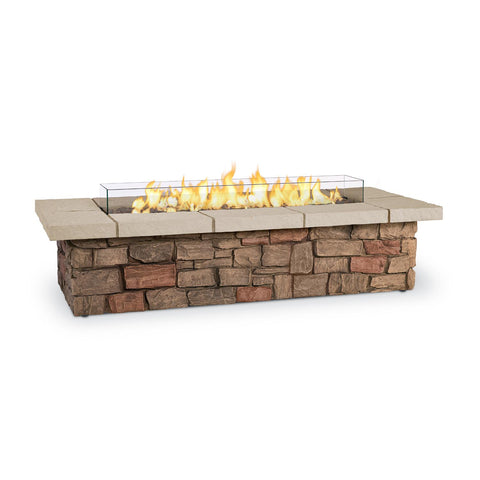 Real Flame Sedona 66-Inch Rectangle Fire Pit Table - Propane w/ Conversion Kit - C11813LP-BF - Fire Table - Real Flame - ElectricFireplacesPlus.com