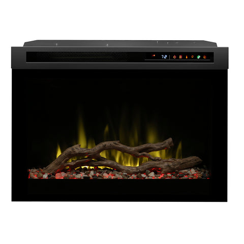 "Image of Dimplex 26"" Multi-Fire XHD Electric Fireplace Insert - Glass/Driftwood - DF26DWC-PRO"