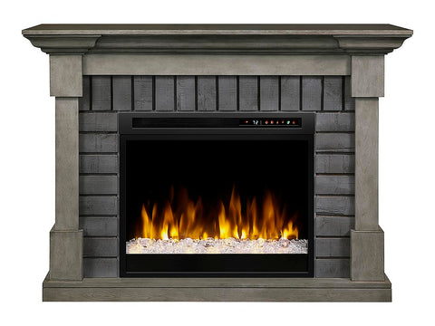 Image of Dimplex Royce Electric Fireplace Mantel With Glass Ember Bed - GDS28G8-1924SK