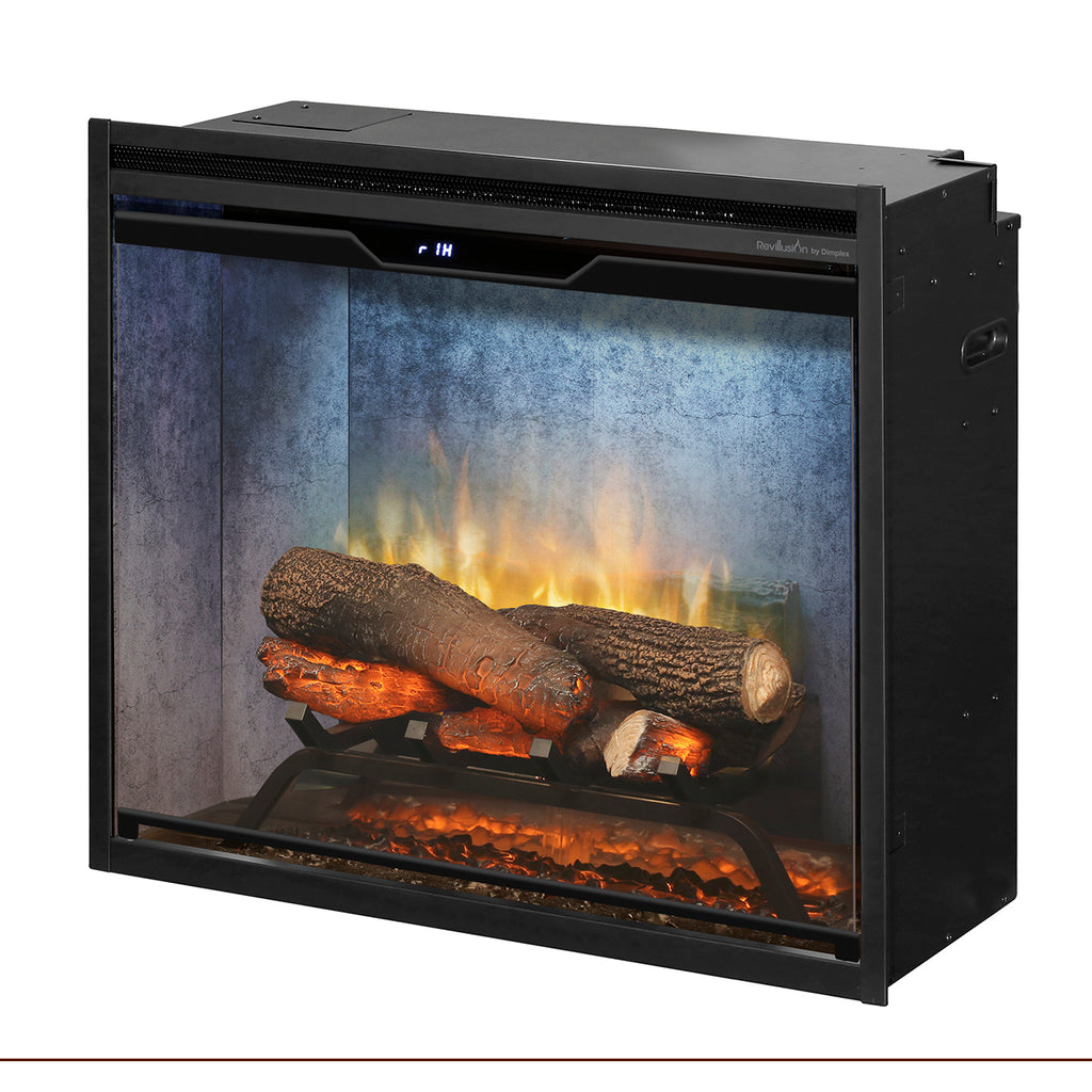 Dimplex Revillusion® 24-Inch Built-In Electric Fireplace - Weathered Concrete - RBF24DLXWC