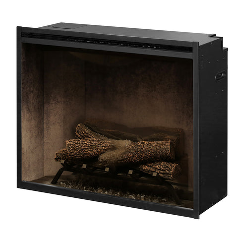 Image of Dimplex Revillusion® 30-Inch Built-In Electric Fireplace - Weathered Concrete - RBF30WC