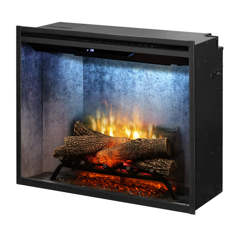 Dimplex Revillusion® 30-Inch Built-In Electric Fireplace - Weathered Concrete - RBF30WC