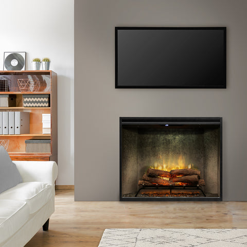 "Image of Dimplex Revillusion® 36"" Portrait Built-In Electric Fireplace - Weathered Concrete -  RBF36PWC"