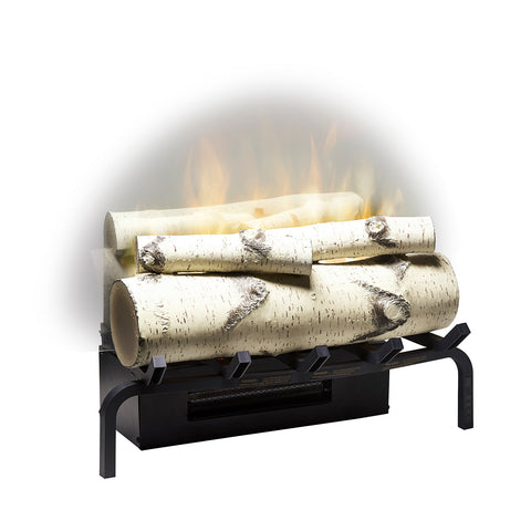 "Image of Dimplex Revillusion® 20"" Electric Fireplace Birch Log Set With Ash Mat - RLG20BR"