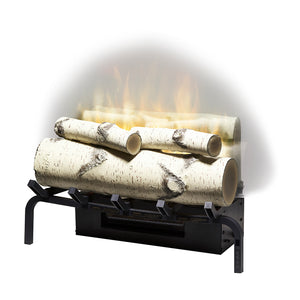 "Dimplex Revillusion® 20"" Electric Fireplace Birch Log Set With Ash Mat - RLG20BR"