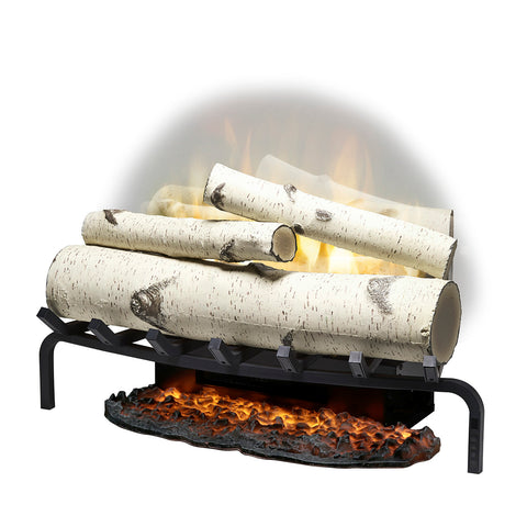 "Dimplex Revillusion® 25"" Electric Fireplace Log Set w/ Ashmat - Birch Logs - RLG25BR"