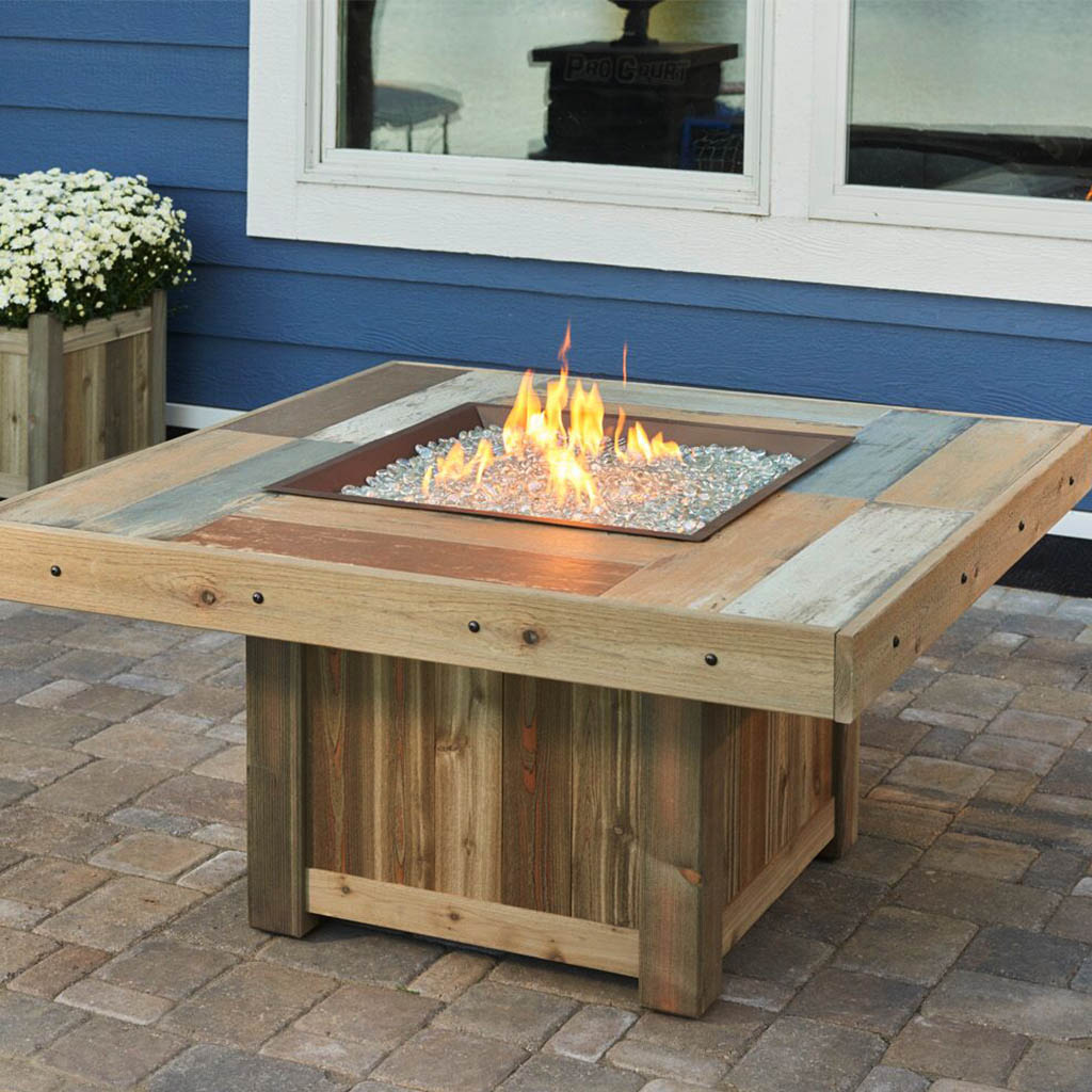 Brilliant The Outdoor Greatroom Company 48 Inch Square Natural Gas Fire Pit Table Brown Vng 2424Brn Ng Download Free Architecture Designs Pushbritishbridgeorg