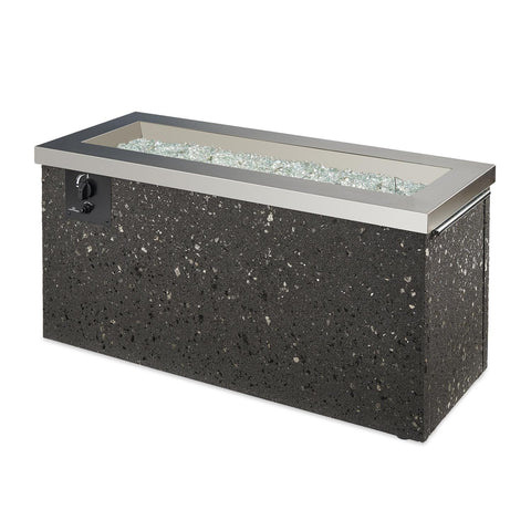 Image of The Outdoor GreatRoom Company Key Largo 54-Inch Linear Propane Gas Fire Pit Table - Stainless Steel - KL-1242-SS - Fire Pit Table - The Outdoor GreatRoom Company - ElectricFireplacesPlus.com