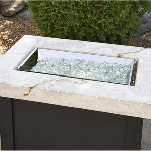 The Outdoor GreatRoom Company Providence 32-Inch Rectangular Propane Gas Fire Pit Table - White - PROV-1224-WO-K