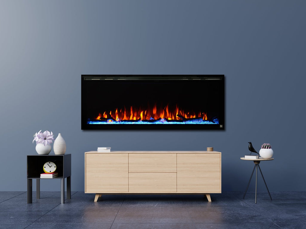 "Touchstone Sideline Elite 42"" Linear Wall Mount Electric Fireplace - 80042"