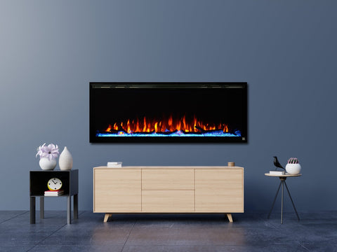 "Image of Touchstone Sideline Elite 42"" Linear Wall Mount Electric Fireplace - 80042"