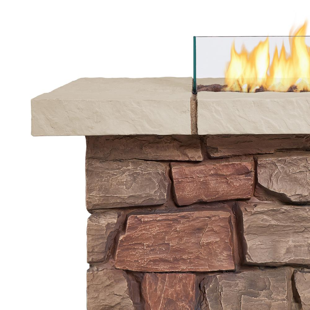 Real Flame Sedona 38-Inch Square Fire Pit Table - Propane w/ Conversion - C11811LP-BF - Fire Table - Real Flame - ElectricFireplacesPlus.com