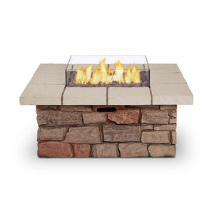 Real Flame Sedona 38-Inch Square Fire Pit Table - Propane w/ Conversion - C11811LP-BF