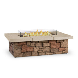 Real Flame Sedona 52-Inch Rectangle Fire Pit Table - Propane w/ Conversion Kit - C11812LP-BF