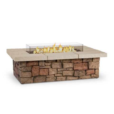 Image of Real Flame Sedona 52-Inch Rectangle Fire Pit Table - Propane w/ Conversion Kit - C11812LP-BF - Fire Table - Real Flame - ElectricFireplacesPlus.com