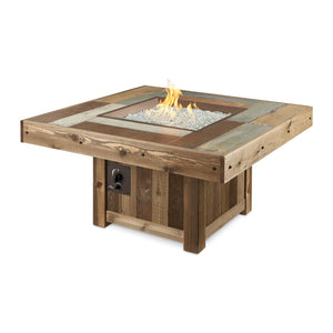 The Outdoor GreatRoom Company 48-Inch Square Natural Gas Fire Pit Table - Brown- VNG-2424BRN-NG