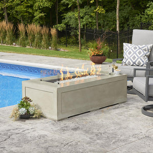 The Outdoor GreatRoom Company Cove 54-Inch Linear Propane Gas Fire Pit Table - Natural Grey - CV-1242