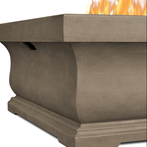 Image of Real Flame Treviso 34-Inch Square Propane Fire Pit - Dove Gray - Fire Pit - Real Flame - ElectricFireplacesPlus.com