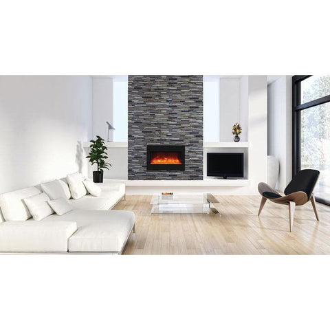 "Amantii  33"" Zero Clearance Electric Fireplace - Electric Fireplace - Amantii - ElectricFireplacesPlus.com"