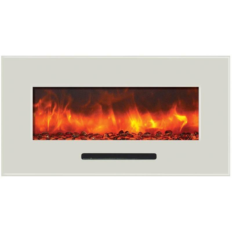 "Amantii  34"" Flush Mount Electric Fireplace - Electric Fireplace - Amantii - ElectricFireplacesPlus.com"