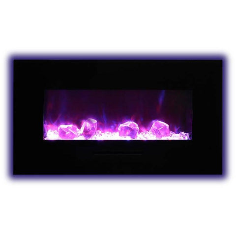 "Image of Amantii  34"" Flush Mount Electric Fireplace - Electric Fireplace - Amantii - ElectricFireplacesPlus.com"