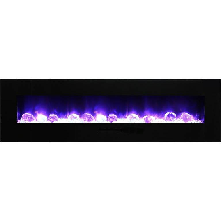 "Amantii  72"" Flush Mount Electric Fireplace - Electric Fireplace - Amantii - ElectricFireplacesPlus.com"