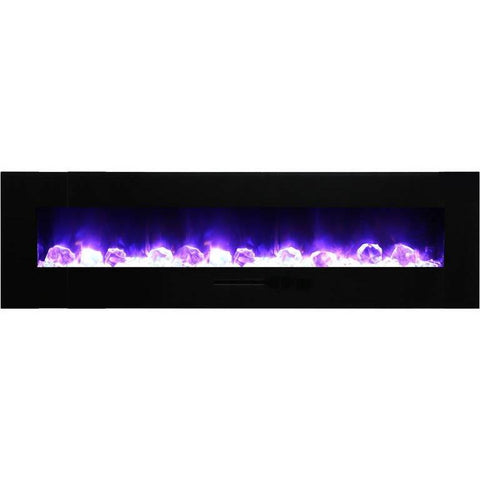 "Image of Amantii  72"" Flush Mount Electric Fireplace - Electric Fireplace - Amantii - ElectricFireplacesPlus.com"