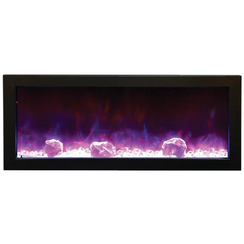 "Image of Amantii Panorama 40"" Electric Fireplace - Slim – Indoor / Outdoor - Electric Fireplace - Amantii - ElectricFireplacesPlus.com"