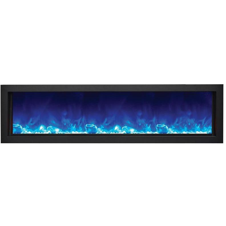 "Amantii Panorama 60"" Electric Fireplace – Deep - Indoor / Outdoor - Electric Fireplace - Amantii - ElectricFireplacesPlus.com"