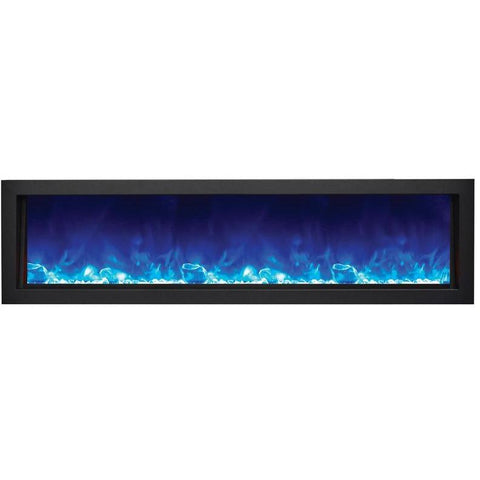 "Image of Amantii Panorama 60"" Electric Fireplace – Deep - Indoor / Outdoor - Electric Fireplace - Amantii - ElectricFireplacesPlus.com"
