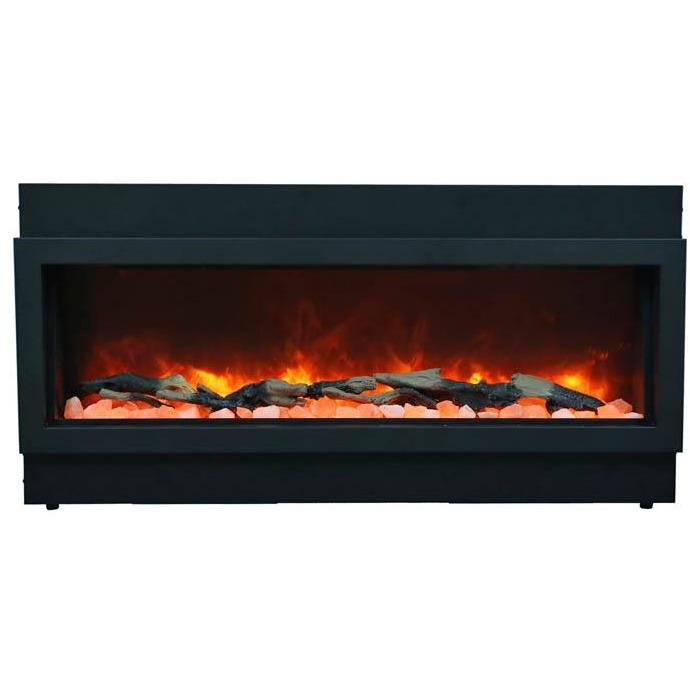 "Amantii Panorama 60"" Electric Fireplace – Slim - Indoor / Outdoor - Electric Fireplace - Amantii - ElectricFireplacesPlus.com"