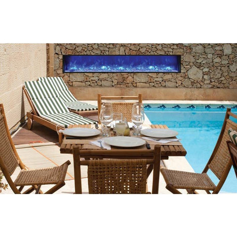 "Image of Amantii Panorama 60"" Electric Fireplace – Slim - Indoor / Outdoor - Electric Fireplace - Amantii - ElectricFireplacesPlus.com"