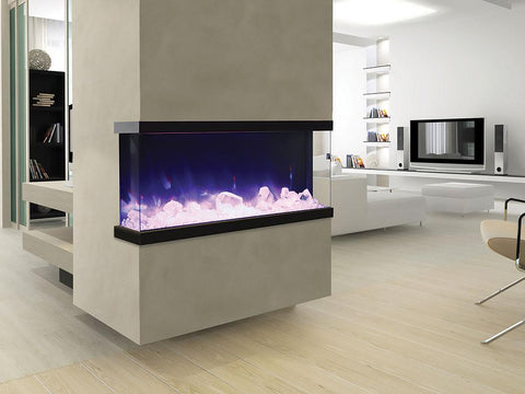 "Amantii Tru View – 50"" electric fireplace - Electric Fireplace - Amantii - ElectricFireplacesPlus.com"