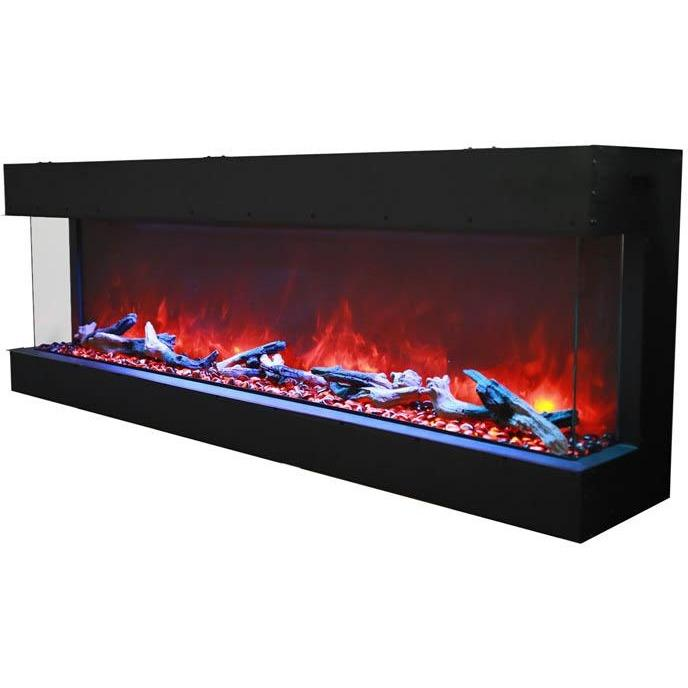"Amantii Tru View  – 72"" electric fireplace - Electric Fireplace - Amantii - ElectricFireplacesPlus.com"