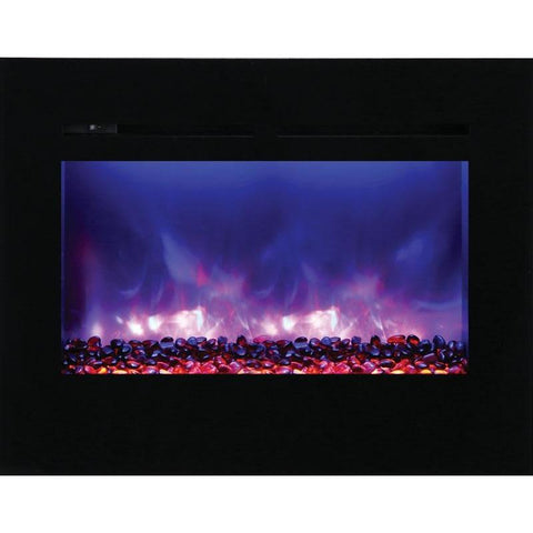 "Image of Amantii ZECL-30-3226-FLUSHMT-BG 30"" Electric Fireplace - Electric Fireplace - Amantii - ElectricFireplacesPlus.com"