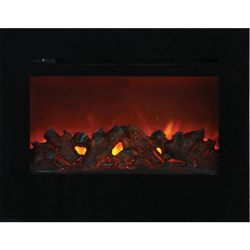 "Amantii ZECL-30-3226-FLUSHMT-BG 30"" Electric Fireplace - Electric Fireplace - Amantii - ElectricFireplacesPlus.com"
